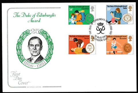Great Britain First Day Cover, 'Duke of Edinburgh's Award Scheme', Cotswold, London SW1, 12-Aug-1981