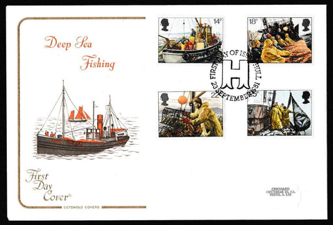 Great Britain First Day Cover, 'Fishing Industry', Cotswold, Hull, 23-Sep-1981