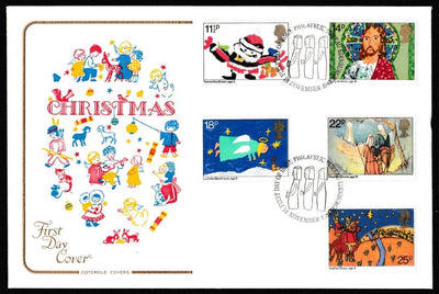 Great Britain First Day Cover, 'Christmas 1981', Cotswold, Philatelic Bureau, Edinburgh, 18-Nov-1981