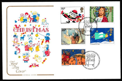 Great Britain First Day Cover, 'Christmas 1981', Cotswold, Bethlehem, Llandeilo, 18-Nov-1981