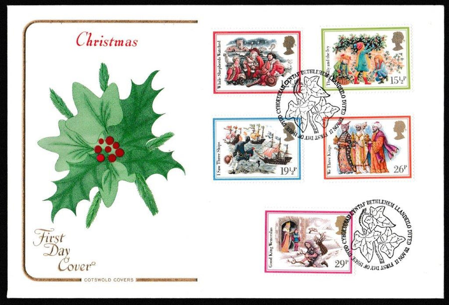Great Britain First Day Cover, 'Christmas 1982', Cotswold, Philatelic Bureau, Edinburgh, 17-Nov-1982