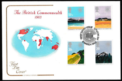 Great Britain First Day Cover, 'Commonwealth Day', Cotswold, London SW, 09-Mar-1983