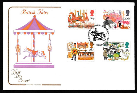 Great Britain First Day Cover, 'British Fairs', Cotswold, Philatelic Bureau, Edinburgh, 05-Oct-1983