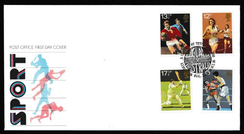 Great Britain First Day Cover, 'British Sports Centenaries', Royal Mail, A Century of Tests, Kennington Oval, 10-Oct-1980