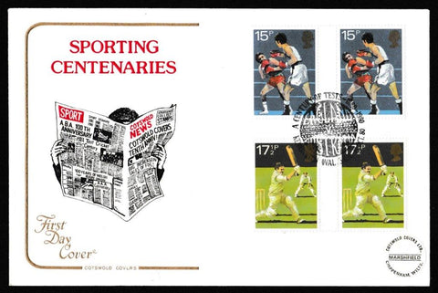 Great Britain First Day Cover, 'British Sports Centenaries', Cotswold, A Century of Tests, Kennington Oval, 10-Oct-1980