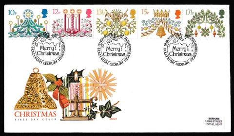 Great Britain First Day Cover, 'Christmas 1980', Philart, Hollybush, Ledbury, Herefordshire, 19-Nov-1980