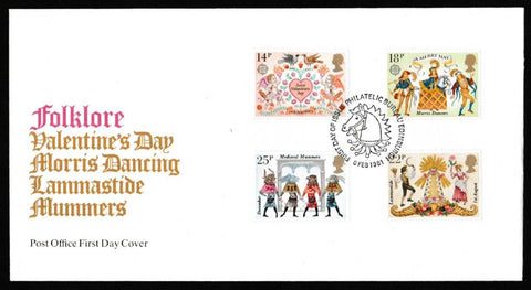 Great Britain First Day Cover, 'Folklore', Royal Mail, Philatelic Bureau, Edinburgh, 06-Feb-1981