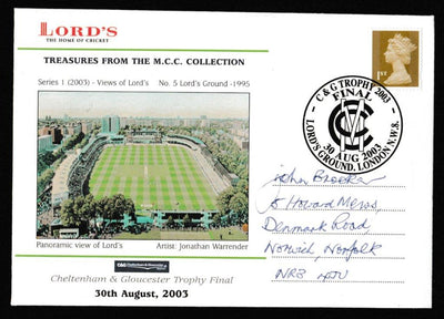 Great Britain Commemorative Cover, 'C&G Trophy Final 2003', Official, C&G Trophy Final, Lord's, 30-Aug-2003