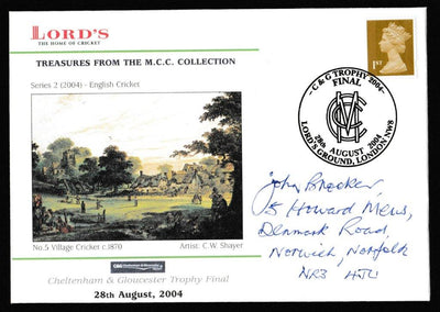 Great Britain Commemorative Cover, 'C&G Trophy Final 2004', Official, C&G Trophy Final, Lord's, 28-Aug-2004