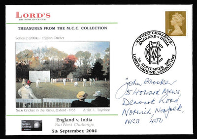 Great Britain Commemorative Cover, 'Natwest Challenge - England v India - Lords', Official, NatWest Challenge, Lord's, 05-Sep-2004