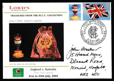 Great Britain Commemorative Cover, 'England v Australia Npower Test 2005', Official, England v Australia, Lord's, 21-Jul-2005