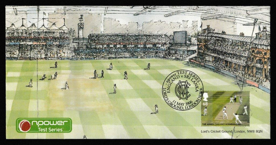 Great Britain Commemorative Cover, 'England v Sri Linka Test Match 2006 - Lords', Official, England v Sri Lanka, Lord's, 11-May-2006