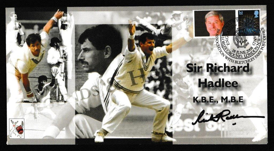 Great Britain Commemorative Cover, 'England v New Zealand Nat West Series - Signed by Sir Richard Hadlee', Official, England v New Zealand, Lord's, 28-Jun-2008