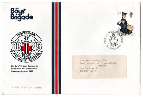 Great Britain First Day Cover, 'Youth Organisations', Official, Glasgow, 24-Mar-1982