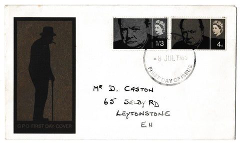 Great Britain First Day Cover, 'Sir Winston Churchill Commemoration', Royal Mail, London, 08-Jul-1965