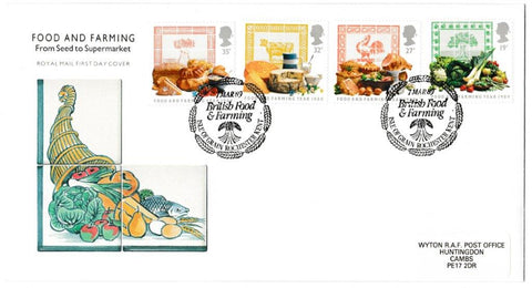 Great Britain First Day Cover, 'Food & Farming Year', Royal Mail, Isle of Grain, Rochester, Kent, 07-Mar-1989