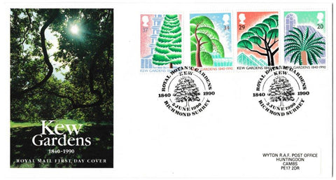 Great Britain First Day Cover, '150th Anniversary Kew Gardens', Royal Mail, Royal Botanic Gardens, Kew, Richmond, Surrey, 05-Jun-1990
