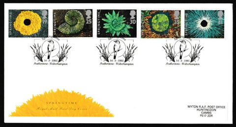Great Britain First Day Cover, 'Springtime', Royal Mail, Featherstone, Wolverhampton, 14-Mar-1995