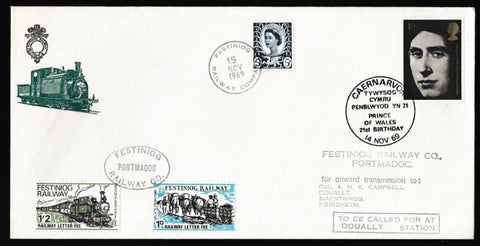 Great Britain Commemorative Cover, 'Prince of Wales 21st Birthday', Royal Mail, Caernarvon, 14-Nov-1969