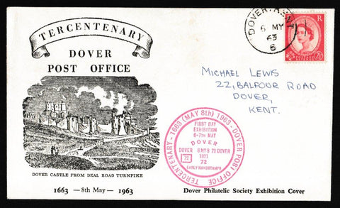 Great Britain Commemorative Cover, 'Tercentenary Dover Post Office', PTS/BPA, Dover, Kent, 08-May-1963