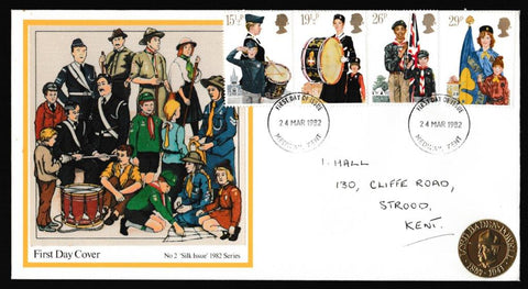 Great Britain First Day Cover, 'Youth Organisations', Presentation, Medway, Kent, 24-Mar-1982