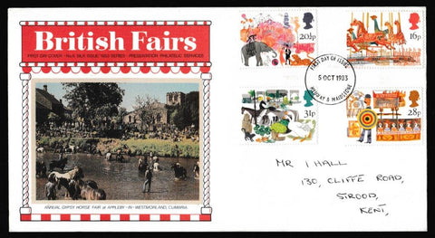 Great Britain First Day Cover, 'British Fairs', Presentation, Medway, Kent, 05-Oct-1983