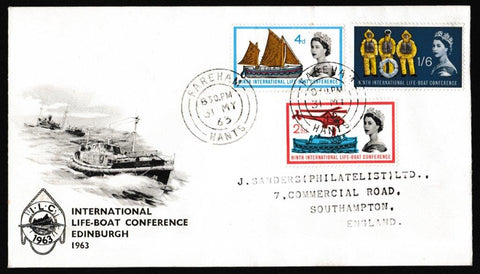 Great Britain First Day Cover, '9th International Lifeboat Conference', PTS/BPA, Fareham, 31-May-1963