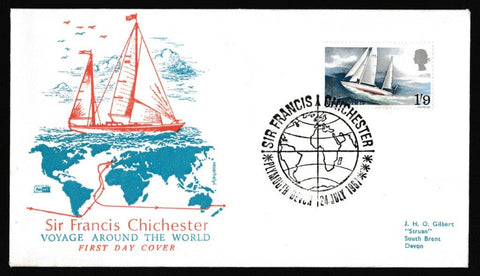 Great Britain First Day Cover, 'Sir Francis Chichester's World Voyage', Philart, Plymouth, 24-Jul-1967