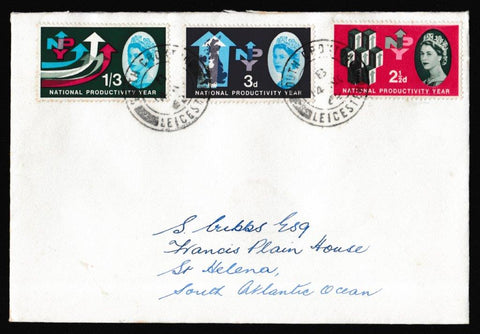 Great Britain First Day Cover, 'National Productivity Year', Plain, South Croxton, Leicester, 14-Nov-1962
