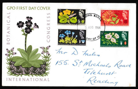 Great Britain First Day Cover, '10th International Botanical Congress - Edinburgh', Royal Mail, Reading, Berkshire, 05-Aug-1964