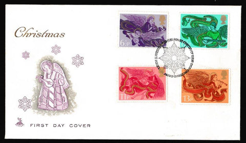 Great Britain First Day Cover, 'Christmas 1975', Mercury, Bethlehem, Llandeilo, 26-Nov-1975