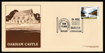 Great Britain First Day Cover, 'The National Trusts', Official, Oakham Castle, Rutland, 24-Jun-1981