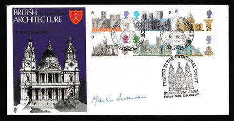 Great Britain First Day Cover, 'British Cathedrals - Philatex St. Pauls', Trident, Philatex St. Pauls, London EC, 28-May-1969