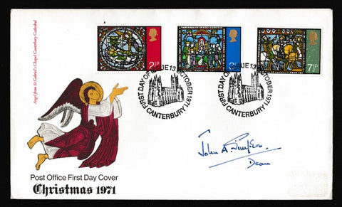 Great Britain First Day Cover, 'Christmas 1971 - Canterbury - Signed', Royal Mail, Canterbury, 13-Oct-1971
