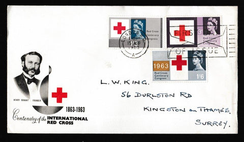 Great Britain First Day Cover, 'Red Cross - Slogan Postmark FDI Envelope', PTS/BPA, London WC, 15-Aug-1963