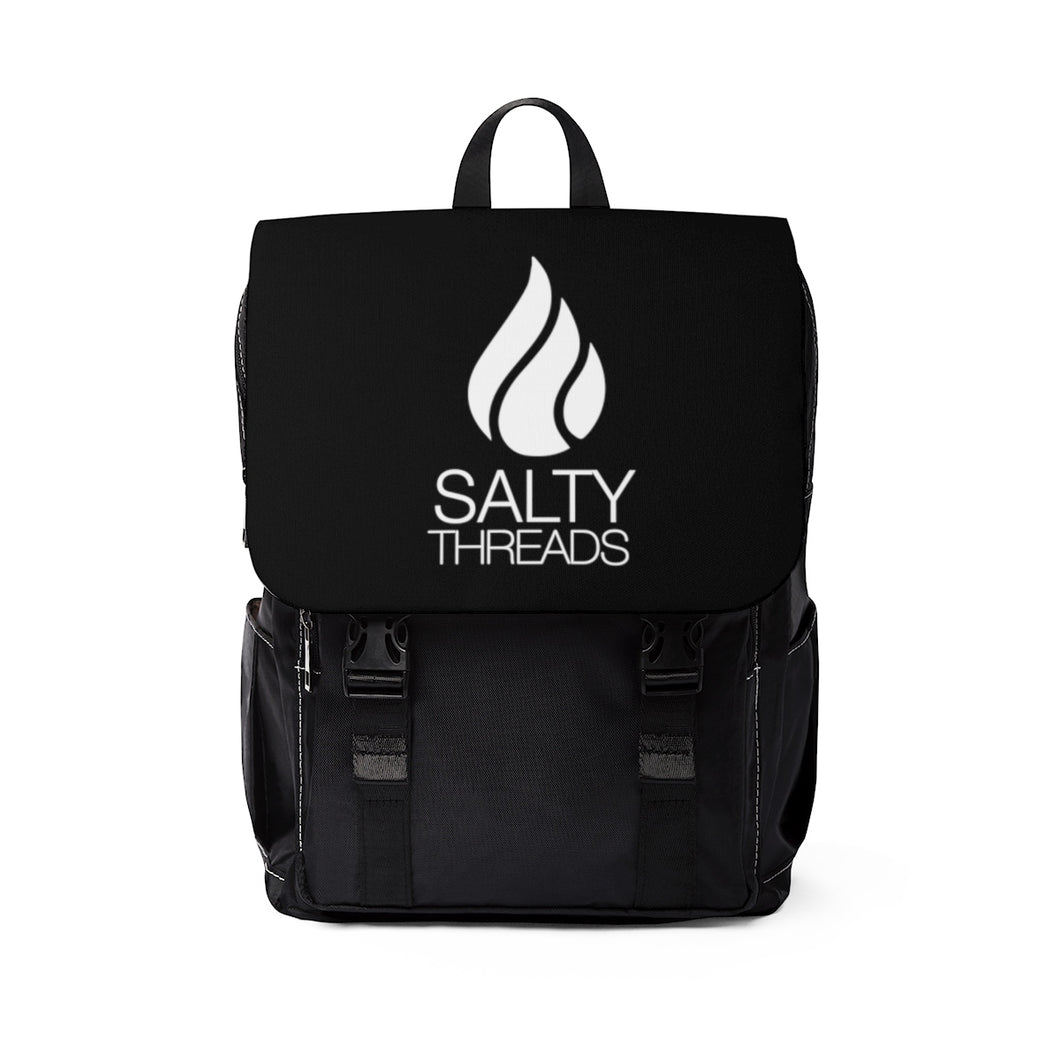 Salty Threads Logo Unisex Casual Shoulder Backpack