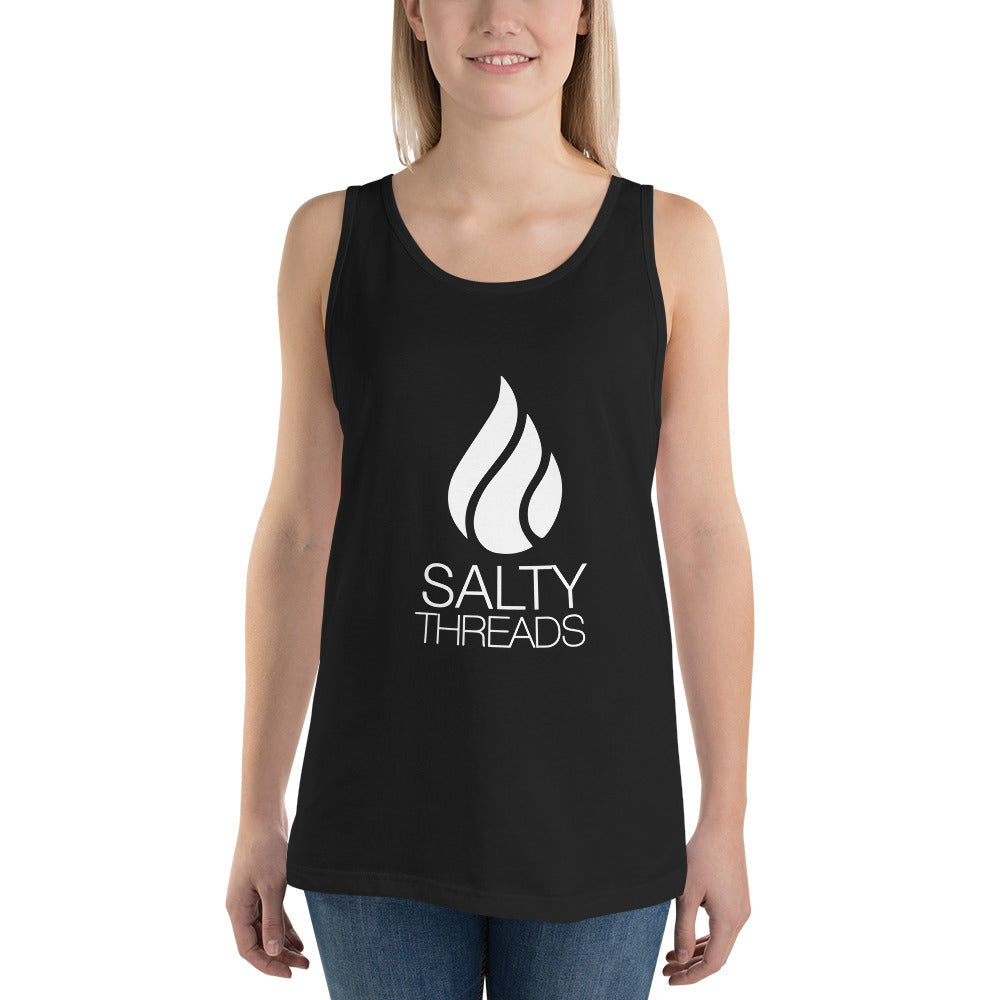 Salty Threads Logo tank