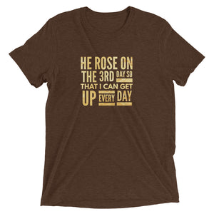 He Rose on the 3rd day (gold) tee