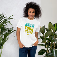 Load image into Gallery viewer, Know Your Worth Unisex Tee