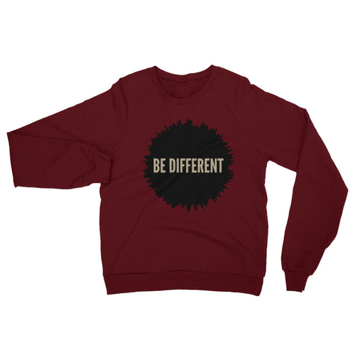 Be Different Fleece Raglan Sweatshirt