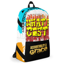 "Load image into Gallery viewer, Purpose ""Accountability & Grace"" Backpack (custom design)"