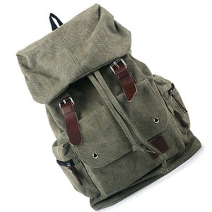Vintage Canvas Shoulder Backpack