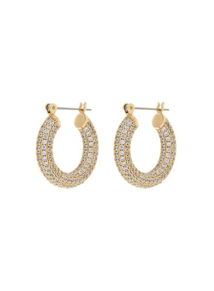 LUV AJ PAVE BABY AMALFI HOOPS- GOLD