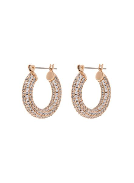 LUV AJ PAVE BABY AMALFI HOOPS- ROSE GOLD