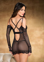 Load image into Gallery viewer, Stretch Lace and Mesh CHEMISE