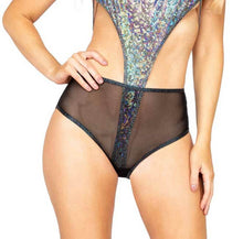 Load image into Gallery viewer, ROMA 1PC SHEER MESH HIGH WAISTED SHORTS