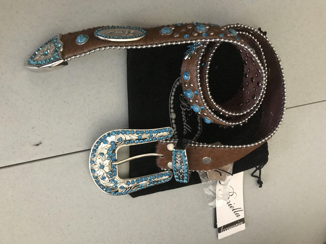 Briella / Women's Embellished Belt - Pink Cactus Trading Company