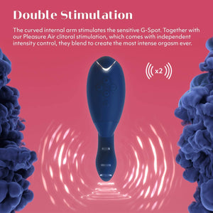 Womanizer Duo Rabbit Clitoral & G-Spot Vibrating Toy for Women, Blueberry