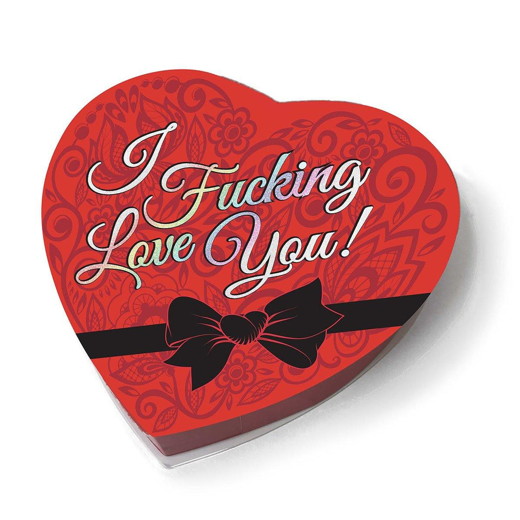 I F***ing Love You Chocolate Candies Heart Box - Pink Cactus Trading Company