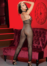 Load image into Gallery viewer, Metallic Abstract Stretch Fishnet BODY STOCKING